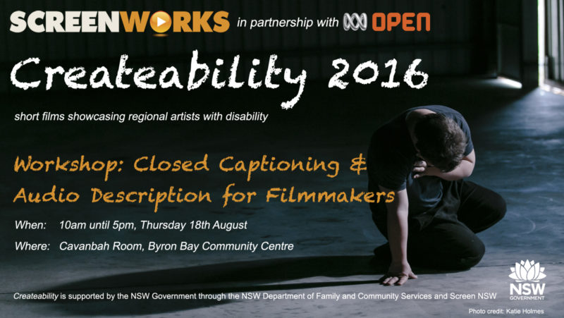 Createability Captioning Workshop eFlyer draft